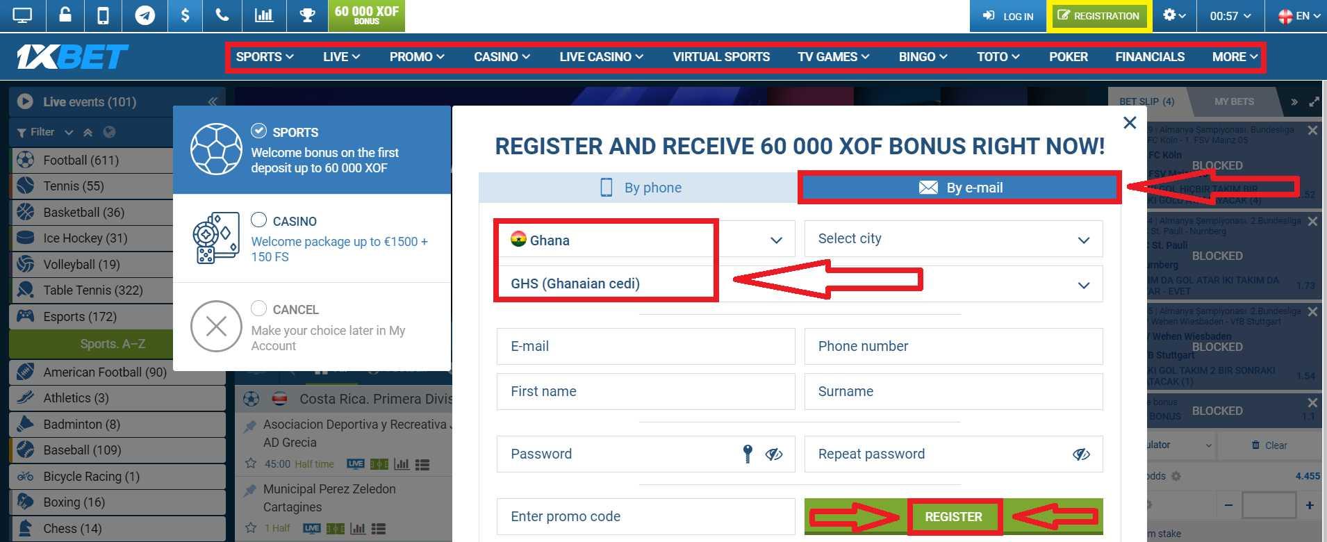 1xBet Promo Code for Registration